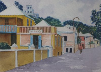 Calle in Puerto Rico; Watercolor, 1995, 11x8 inches