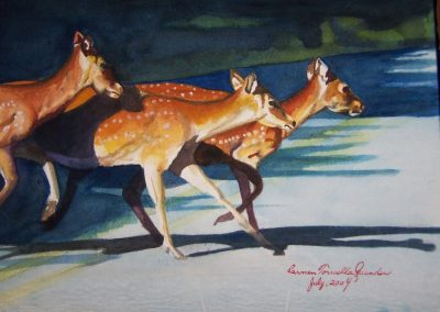 Deer; Watercolor, 2004