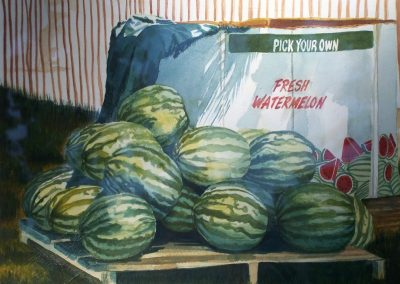 Fresh Watermelon; Watercolor