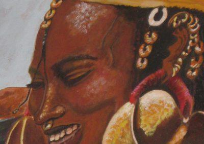 Fulani from Mali; Acrylic on canvas, 1998