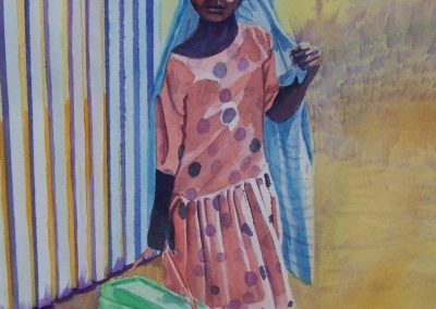 Little Girl; Watercolor 2001
